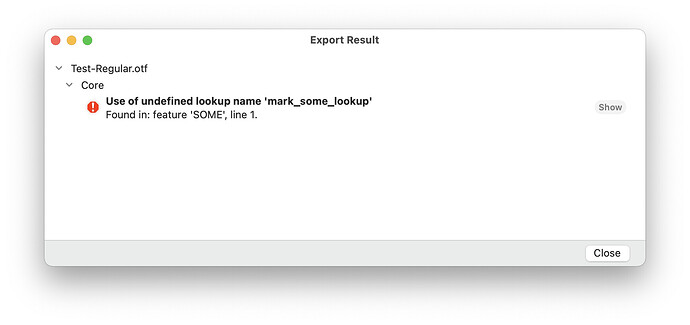 Use of undefined lookup name 'mark_some_lookup'