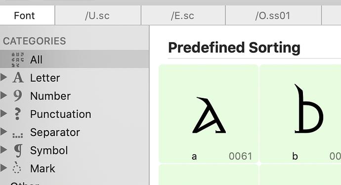 predefinedsorting