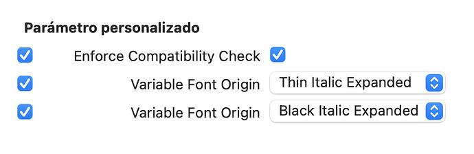 Custom parameter
