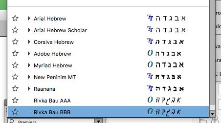 Place Font on Hebrew Font List - Glyphs Forum